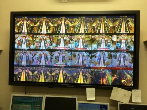 ライブモニターの24画面分割による効率的な監視が可能!